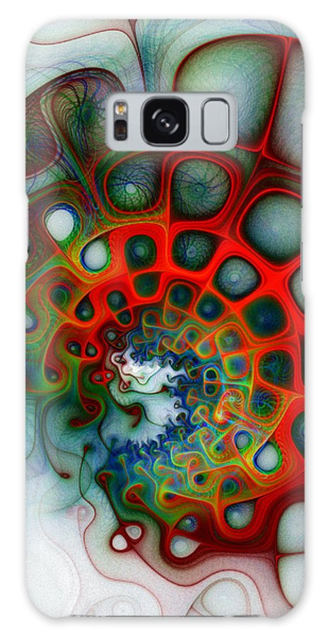 Digital Art Galaxy S8 Case featuring the digital art Convolutions by Amanda Moore