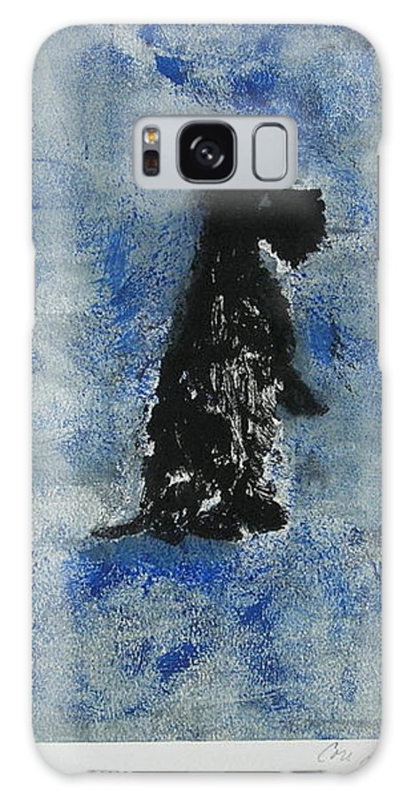 Monotype Galaxy Case featuring the mixed media Cool Blue by Cori Solomon