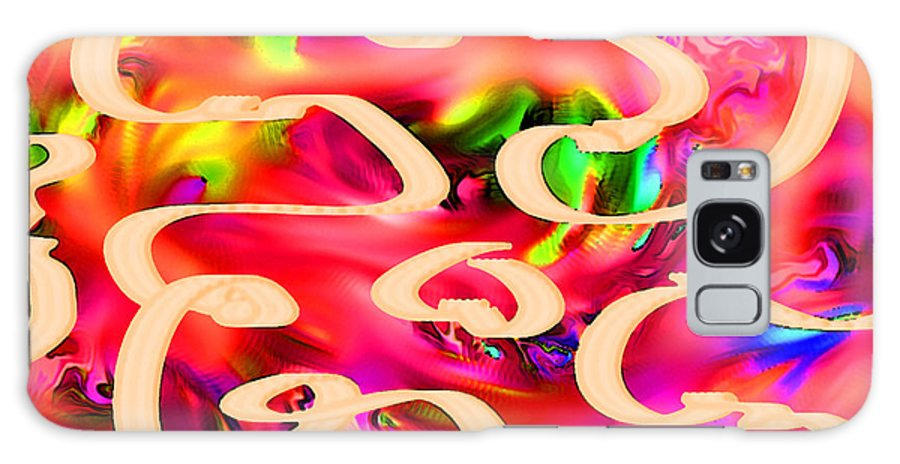 Abstract Galaxy S8 Case featuring the digital art Cool Colors by Rachel Christine Nowicki
