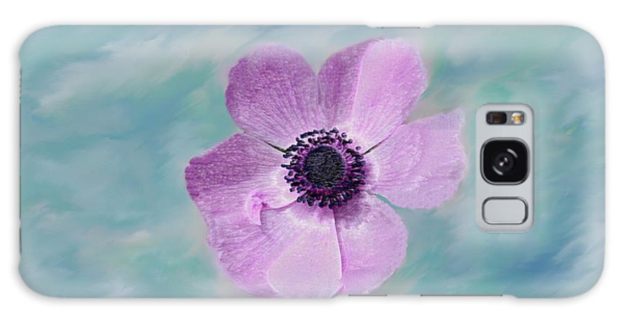 Flowers Floral Macro Nature Gardens Pink Purple Blue Green White Petals Spring Flowers Galaxy Case featuring the photograph Cool Spring by Linda Sannuti