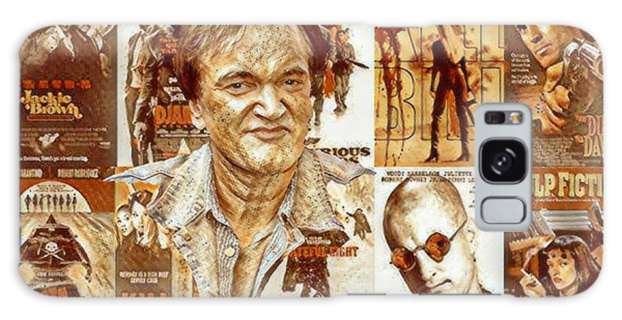 Cool Tarantino Poster Galaxy S8 Case featuring the mixed media Cool Tarantino Poster by Pd