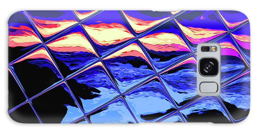 Tile Galaxy S8 Case featuring the digital art Cool Tile Reflection by Stephen Younts