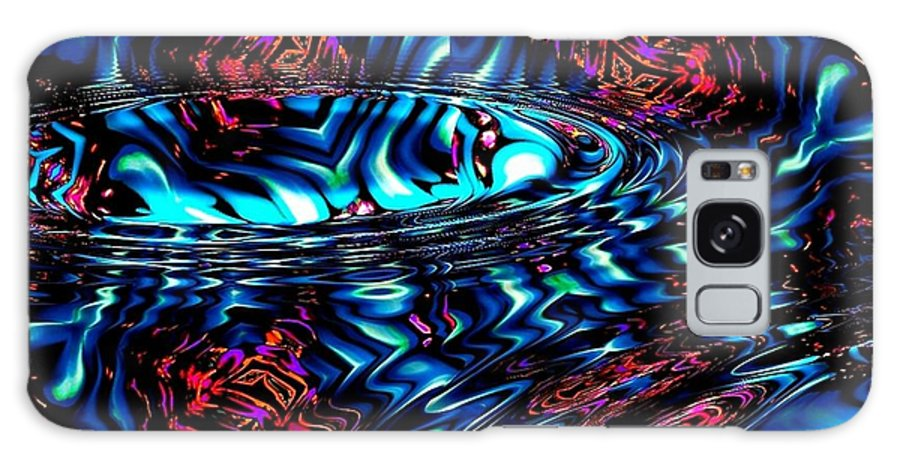 Abstract Galaxy S8 Case featuring the digital art Cool Water by Robert Orinski