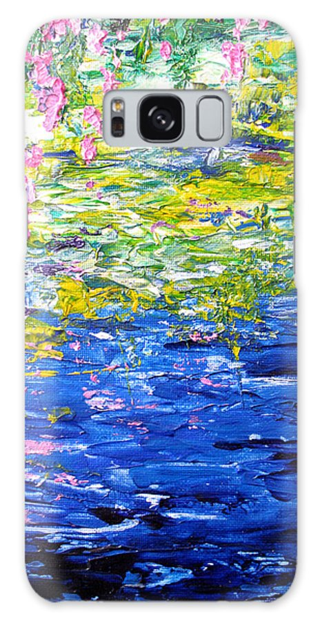 Water Galaxy S8 Case featuring the painting Cool Waters by Elaine Booth-Kallweit