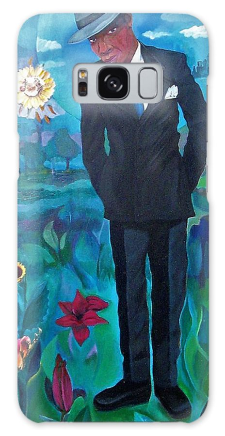 Man Galaxy S8 Case featuring the painting Cooler By The Lake/male by Joyce Owens