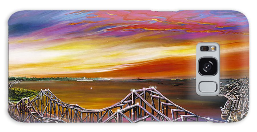 Clouds Galaxy S8 Case featuring the painting Cooper River Bridge by James Christopher Hill
