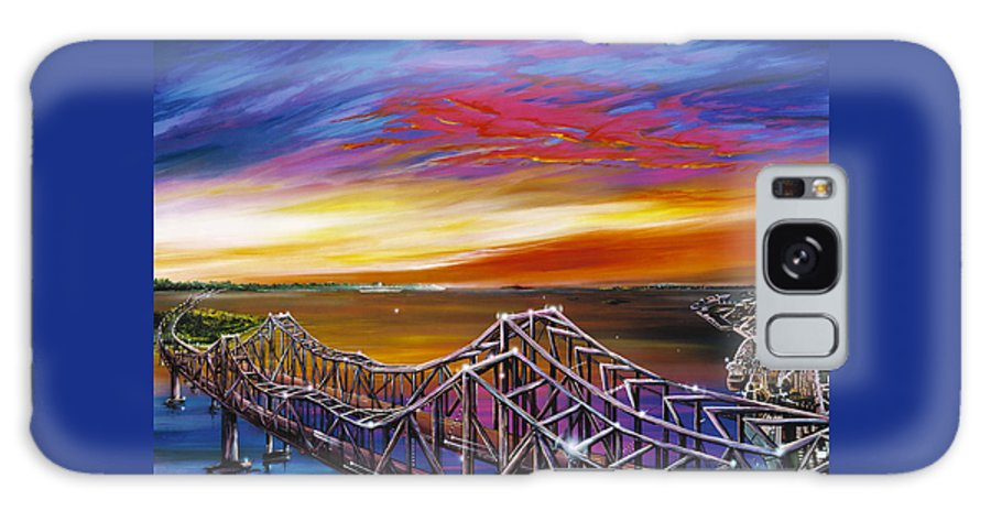 Clouds Galaxy Case featuring the painting Cooper River Bridge by James Christopher Hill