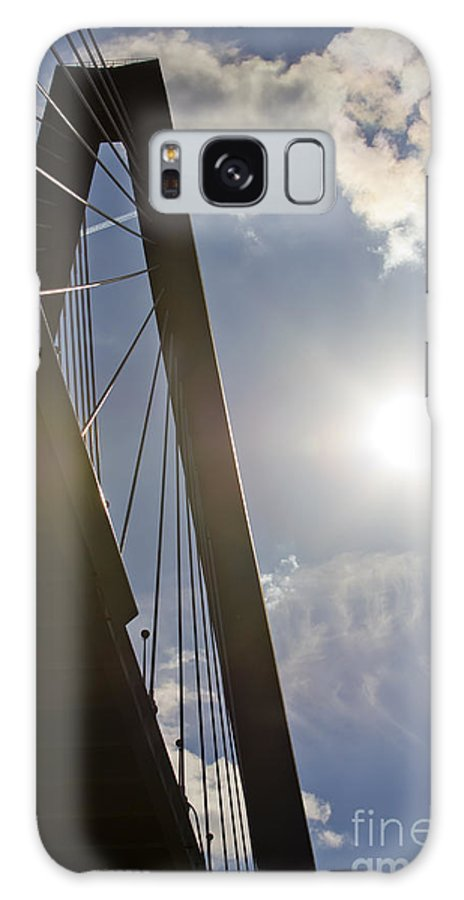Cooper River Bridge Galaxy S8 Case featuring the photograph Cooper River Bridge Lens Flair by Dustin K Ryan
