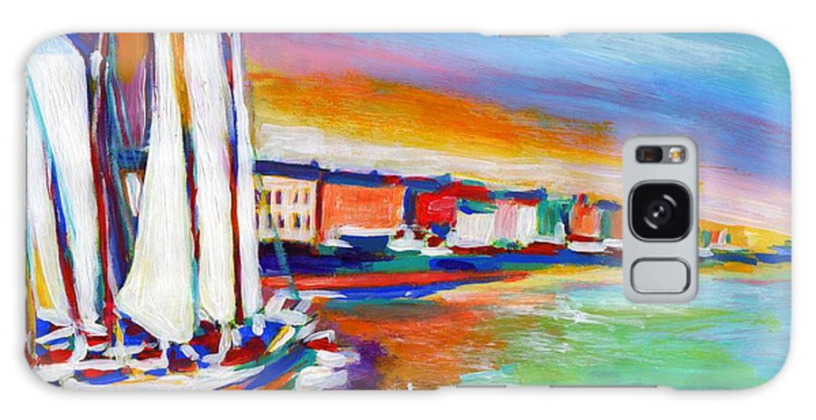 Boats Galaxy S8 Case featuring the painting Copenhagen by Vel Verrept