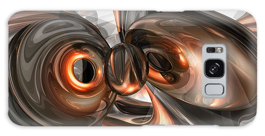 3d Galaxy S8 Case featuring the digital art Copper Dreams Abstract by Alexander Butler