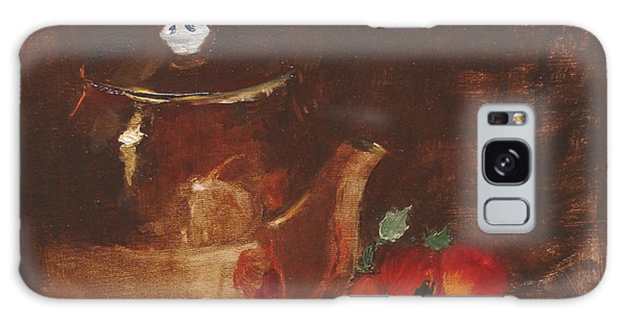 Kitchen Galaxy Case featuring the painting Copper Kettle by Barbara Andolsek