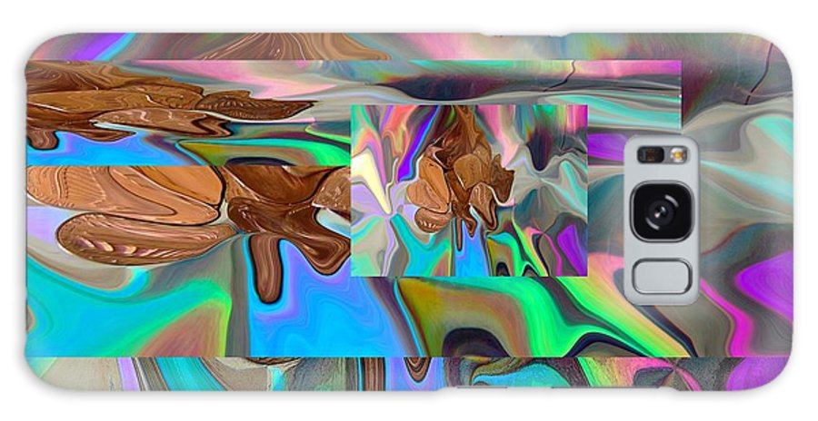 Abstract Galaxy S8 Case featuring the digital art Copper Prism by Florene Welebny