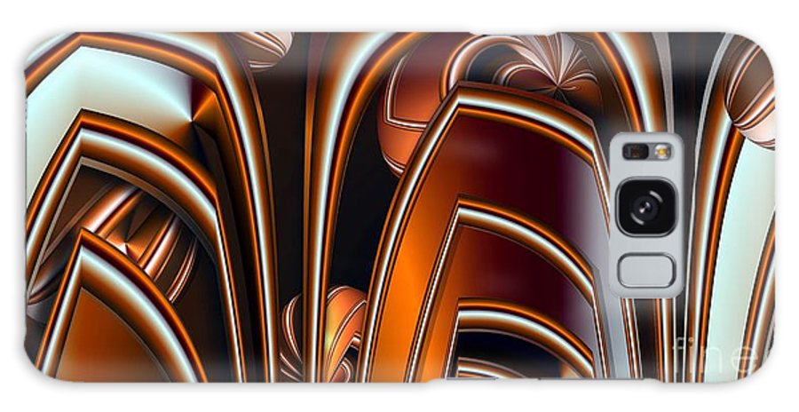 Abstract Galaxy S8 Case featuring the digital art Copper Shields by Ron Bissett