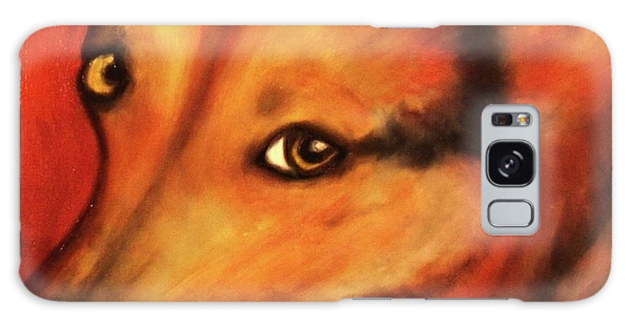 Dog Art Galaxy S8 Case featuring the painting Corgi- Ellie Mae by Laura Grisham