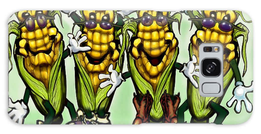 Corn Galaxy S8 Case featuring the digital art Corn Party by Kevin Middleton