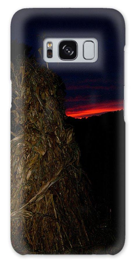 Kentucky Galaxy S8 Case featuring the photograph Corn Shock At Setting Sun by Douglas Barnett
