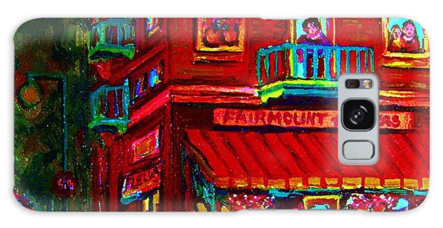 Flowershop Galaxy S8 Case featuring the painting Corner Flowershop by Carole Spandau