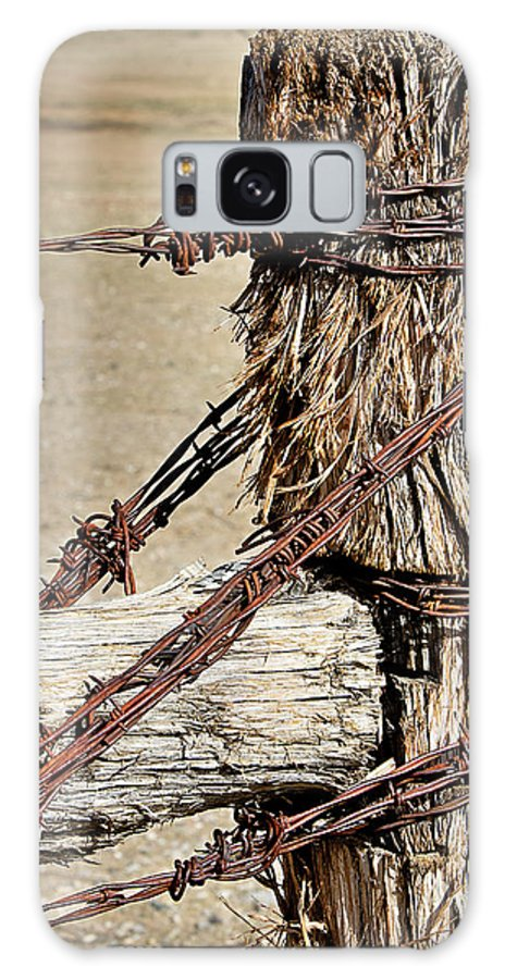 Fence Galaxy S8 Case featuring the photograph Corner Post by Phyllis Denton
