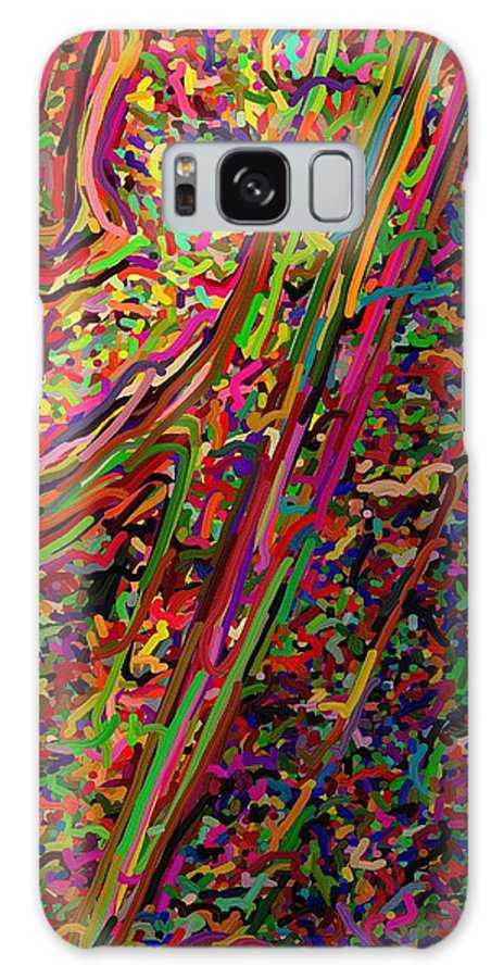 In-half Galaxy S8 Case featuring the digital art Cornered by April Patterson