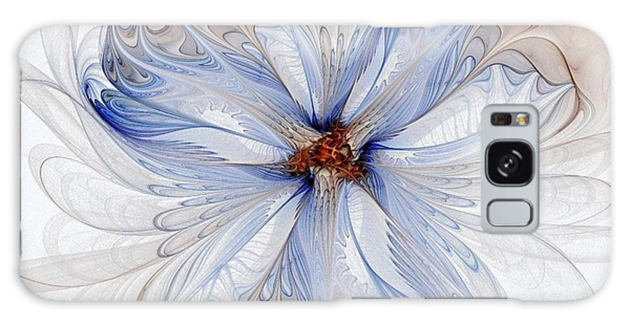 Digital Art Galaxy S8 Case featuring the digital art Cornflower Blues by Amanda Moore