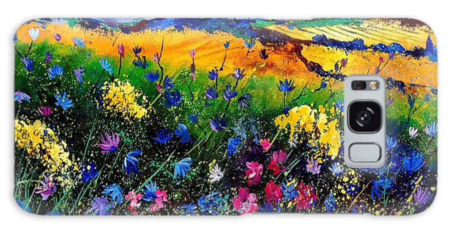 Flowers Galaxy S8 Case featuring the painting Cornflowers 680808 by Pol Ledent