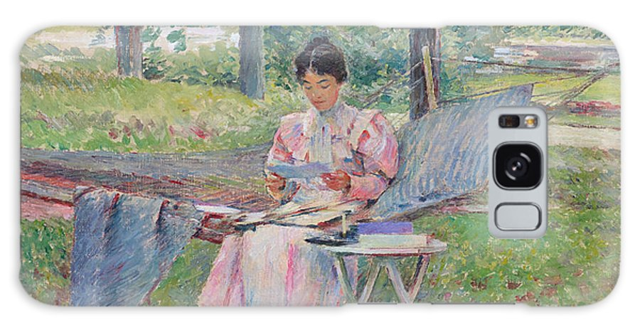 Theodore Robinson Galaxy S8 Case featuring the painting Correspondence by Theodore Robinson