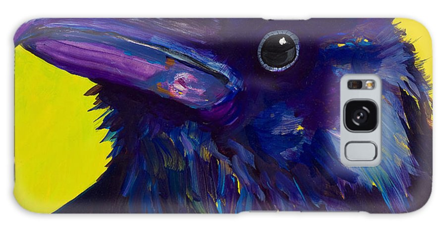 Bird Galaxy Case featuring the painting Corvus by Pat Saunders-White