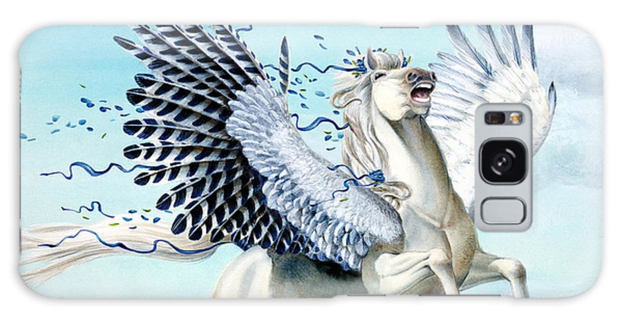 Artwork Galaxy Case featuring the painting Cory Pegasus by Melissa A Benson