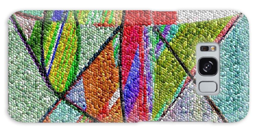Life Galaxy Case featuring the digital art Cosmic Lifeways Mosaic by Helmut Rottler