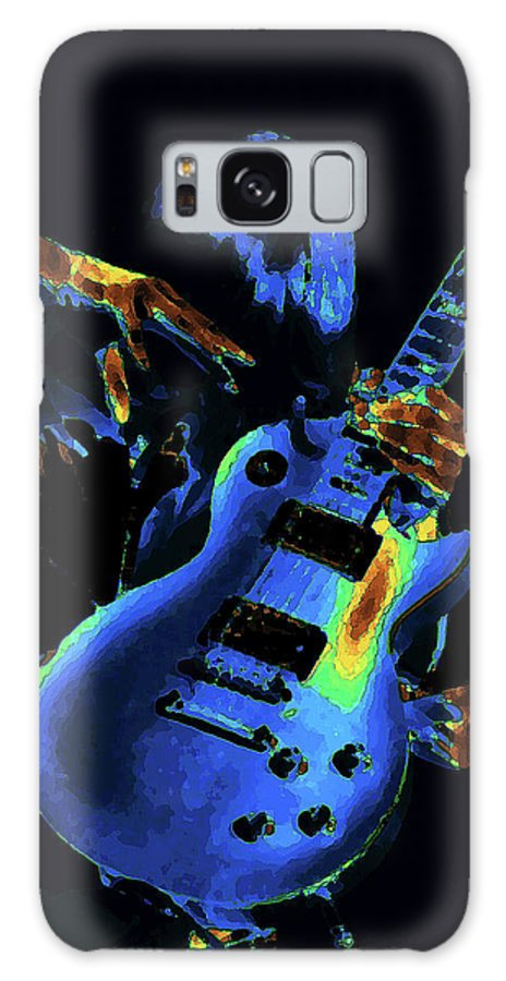 Rock Images Galaxy S8 Case featuring the photograph Cosmic Rock Guitar by Ben Upham