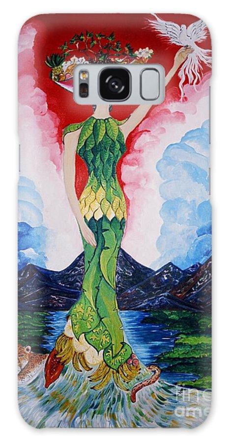 El Artista Refleja Sus Origenes: Esa Costa Rica Orgullosa De Su Gran Riqueza Galaxy S8 Case featuring the painting Costa Rica by David Alvarado