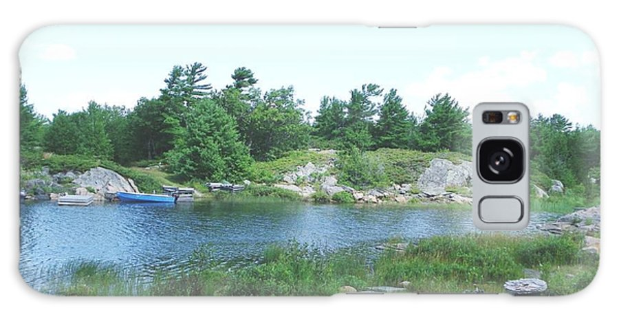 Bay Galaxy S8 Case featuring the photograph Cottage Country by Peggy King