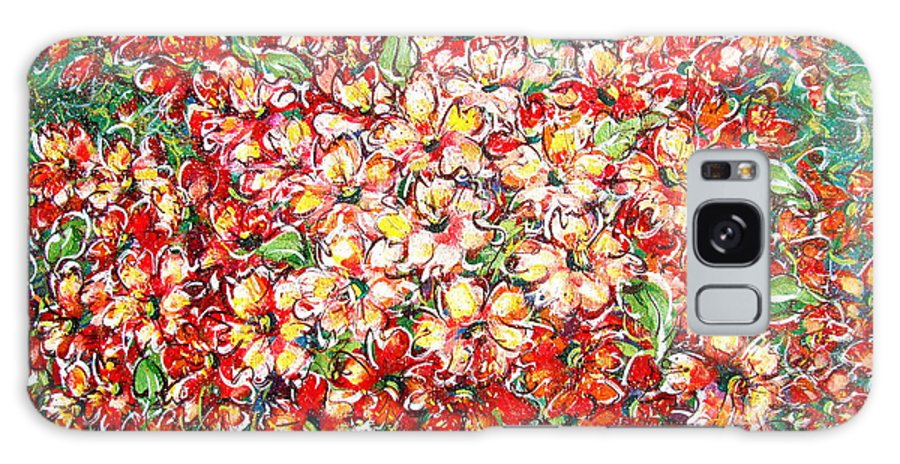 Flowers Galaxy Case featuring the painting Cottage Garden Flowers by Natalie Holland