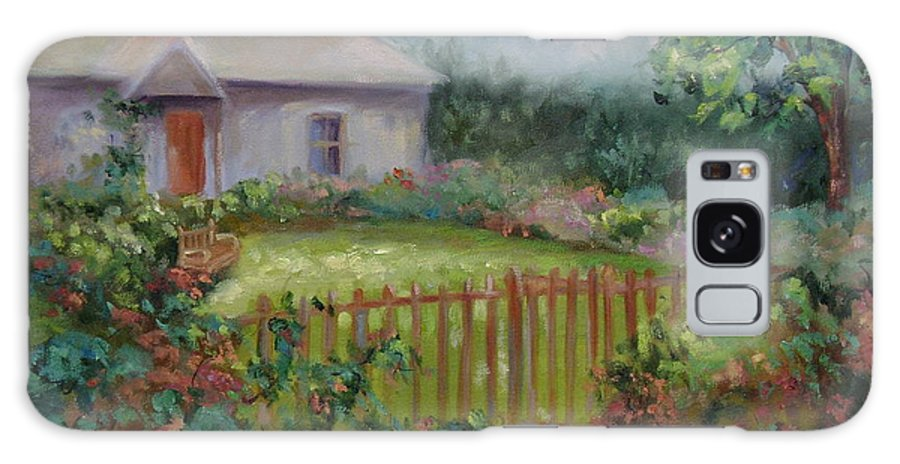 Cottswold Galaxy S8 Case featuring the painting Cottswold Cottage by Ginger Concepcion