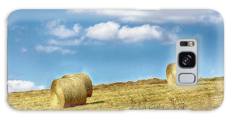 Country Galaxy S8 Case featuring the photograph Country Bales by Spirit Vision Photography