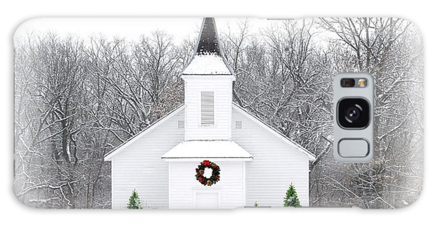 Church Galaxy S8 Case featuring the photograph Country Christmas Church by Carol Sweetwood