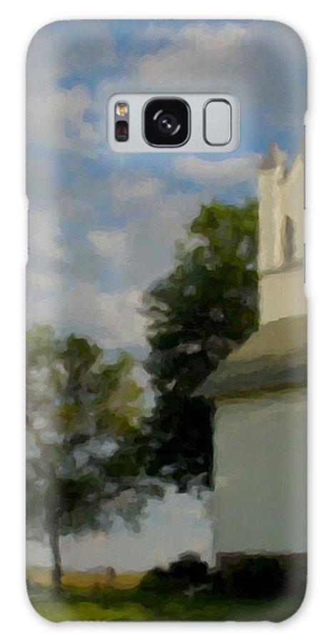 Church Galaxy S8 Case featuring the digital art Country Chuch by Anita Burgermeister