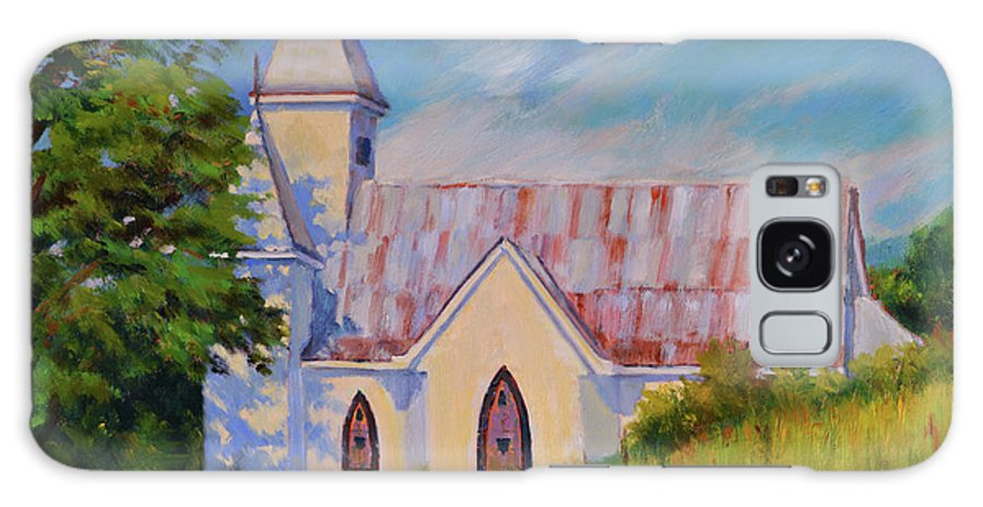Impressionism Galaxy S8 Case featuring the painting Country Church by Keith Burgess