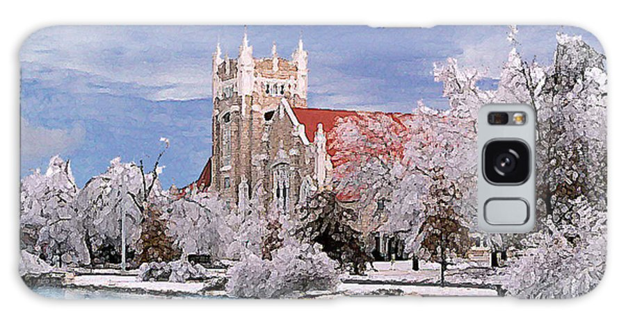 Winter Galaxy S8 Case featuring the photograph Country Club Christian Church by Steve Karol