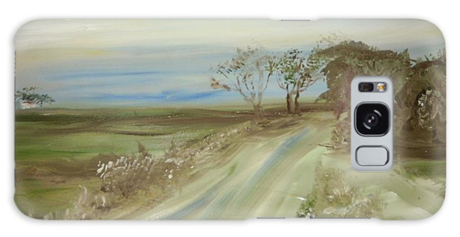 Landscape Galaxy S8 Case featuring the painting Country Coastal Road by Edward Wolverton
