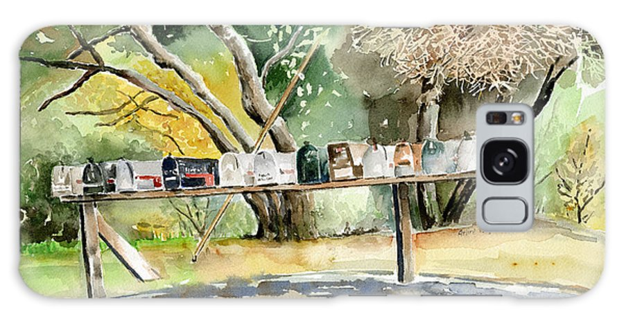 Mailboxes Galaxy S8 Case featuring the painting Country Mailboxes by Arline Wagner