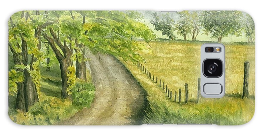 Country Galaxy S8 Case featuring the painting Country Road by Mary Tuomi
