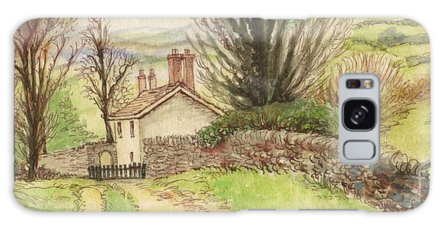 Art Galaxy S8 Case featuring the painting Country Scene Collection 1 by Morgan Fitzsimons