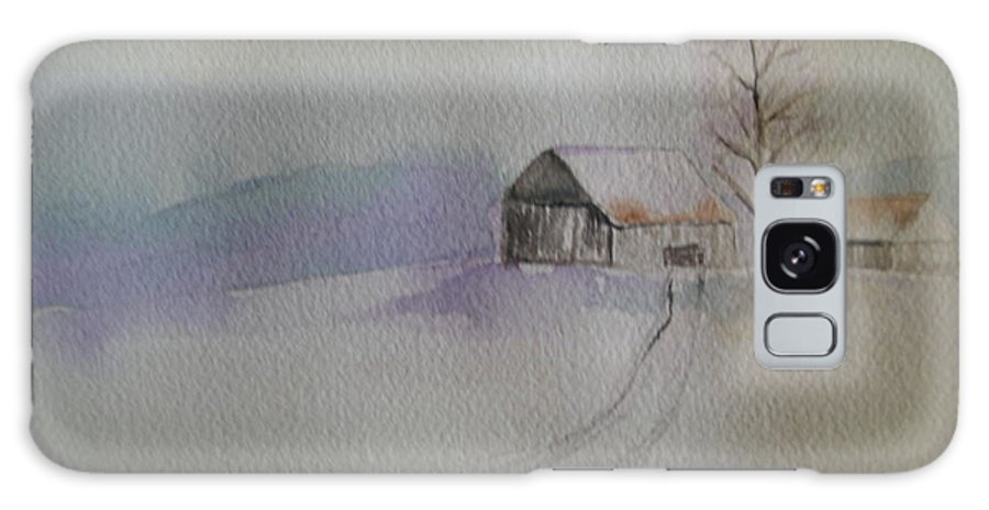 Barn Snow Winter Tree Landscape Cold Galaxy S8 Case featuring the painting Country Snow by Patricia Caldwell