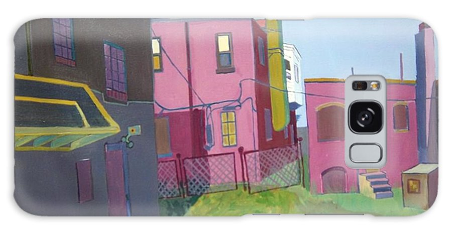 Alleyway Galaxy Case featuring the painting Courtyard View by Debra Bretton Robinson