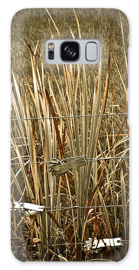 Americana Galaxy Case featuring the photograph Cowboy Fence by Marilyn Hunt