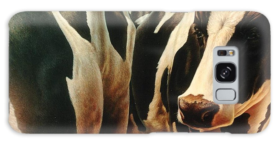Cows Galaxy S8 Case featuring the painting Cows 1 by Hans Droog