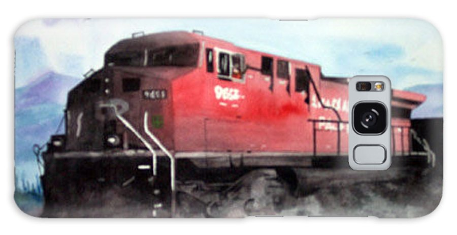 Train Galaxy Case featuring the painting Cp Rocky Mountain Coal Train by Blaine Filthaut