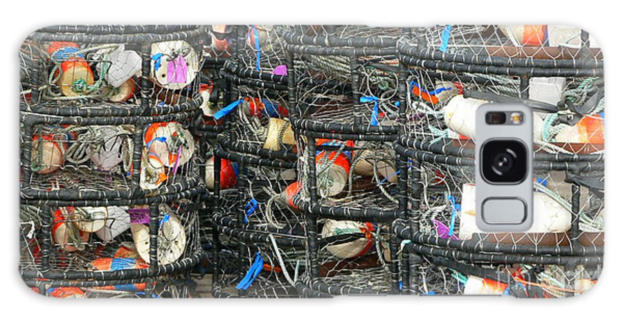 Crabs Galaxy Case featuring the photograph Crab Traps by Larry Keahey