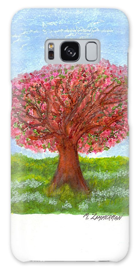 Tree Of Life Galaxy S8 Case featuring the painting Cranberry Melody by Mary Zimmerman
